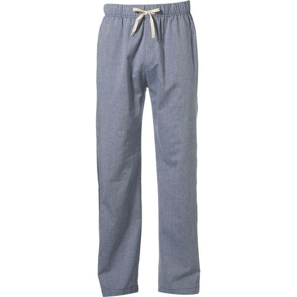 Blue Chambrey Pyjamas - Mens Pyjamas & Loungewear - Clothing - TOPMAN ($24) ❤ liked on Polyvore featuring men's fashion, men's clothing, men's sleepwear, mens sleepwear, men's apparel and mens clothing