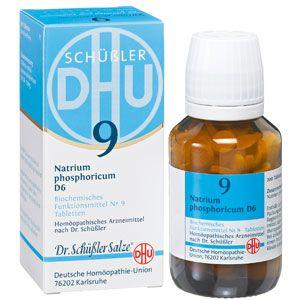 Das Schüssler Salz Nr. 9 (Natrium phosphoricum) wird als Stoffwechselsalz bei Übersäuerung angewandt.