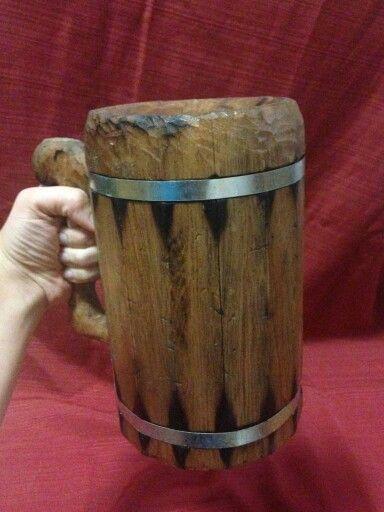 Rustic beer mug