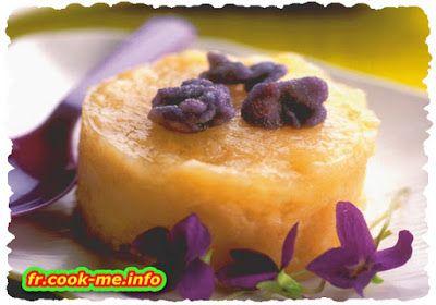 Gâteau de riz à la violette. POUR 6 PERSONNES. PRÉPARATION 20 MIN. CUISSON 55 MIN.  • 50 g de violettes au sucre • 75 cl de lait • 20 g de beurre • 2 ceufs • 200 g de riz rond • 150 g de sucre en poudre • 1 sachet de sucre vanillé • sel  Pour le caramel :  • citron (quelques gouttes) • 10 morceaux de sucre
