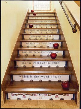 91 Best Images About Stair Risers Decorating Ideas On Pinterest | Staircase  Design, Stair Risers