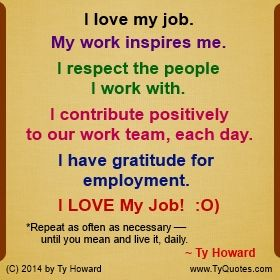 Ty Howard's Quote on Teamwork, Quotes on Team Building, Quotes on I Love My Job