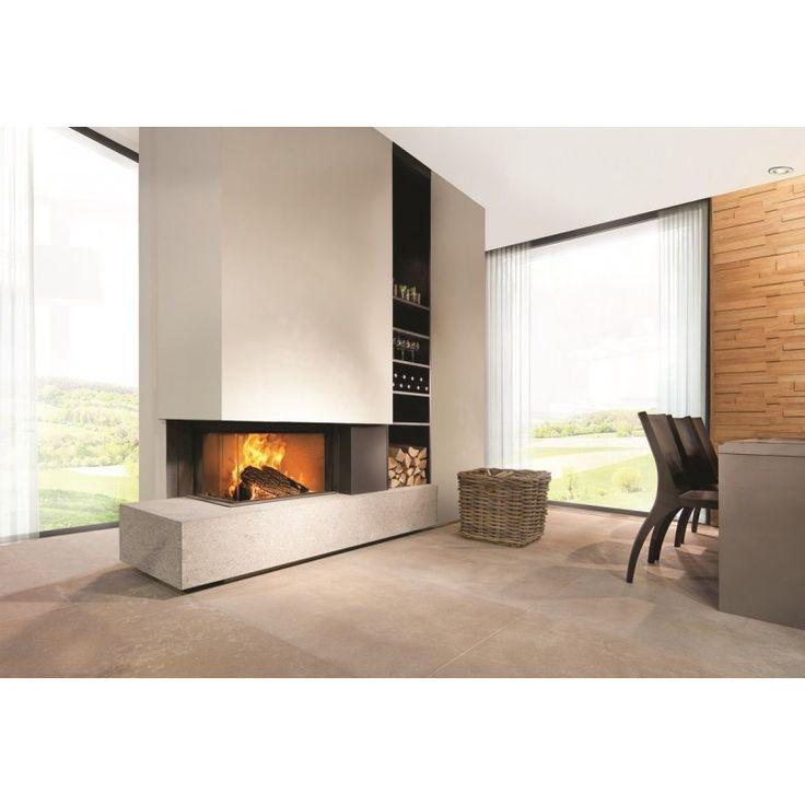 Kal-fire Heat Pure 65 hoek lift deur haard houtgestookt | Boudrie Kachels & Haarden