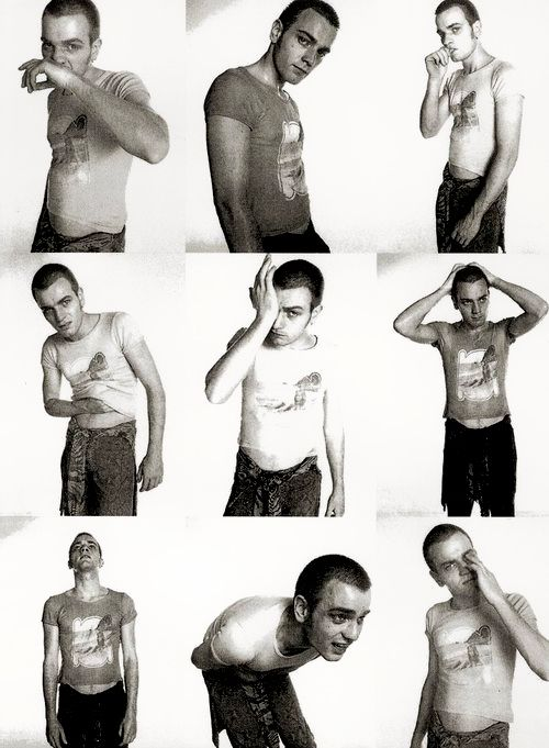 Ewan McGregor in Trainspotting. Directed by Danny Boyle, movie released in 1996.
