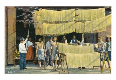 Pasta Drying, Italy For Connie, look how they used to dry pasta in Italy!