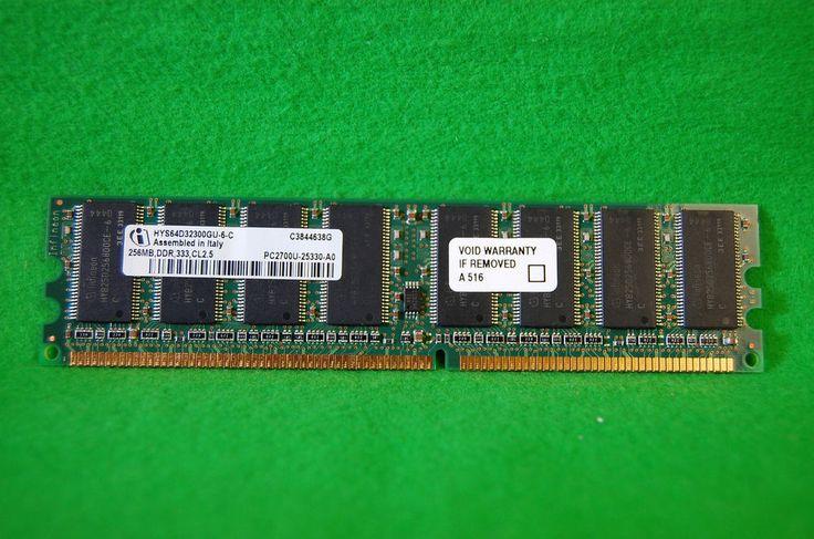 PC RAM DDR1 Infineon 256MB 184p PC2700 CL2.5 DDR DIMM HYS64D32300GU-6-C, 333MHz