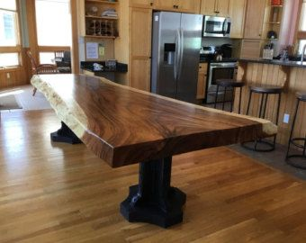 interesting dining room tables 46 Image Of Live edge dining