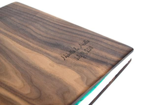 Custom Photo Album in Black Walnut Wood - made to order by Three Trees Bindery | Hatch.co