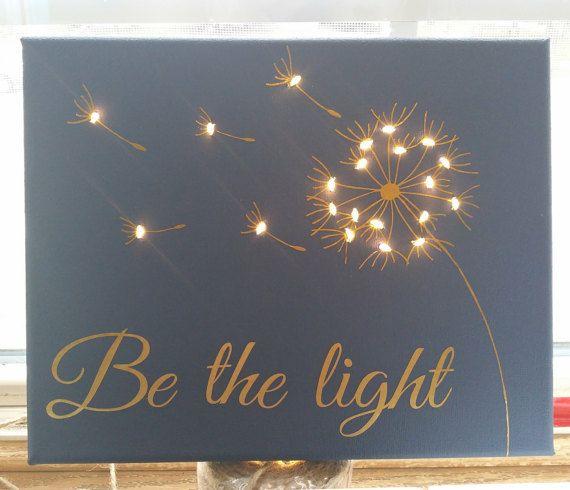 Dandelion Lighted Canvas by KandCStudios on Etsy