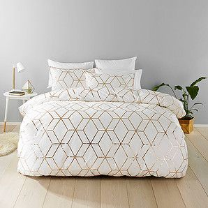 Fantastic bedspread solutions from Target. This great Harlow quilt cover set consists of a quilt cover and two 250 thread count pillowcases.