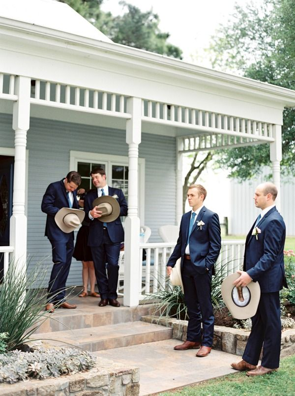 Cowboy groomsmen.