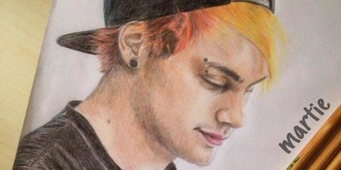 5SOS fan art>>> wow. Congrats to whoever drew this