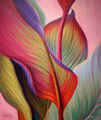 Resultado de imagen para pinturas abstractas acrilicas con hojas
