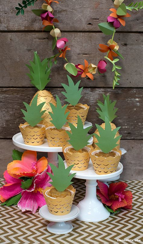 Pineapple Cupcake Decorations