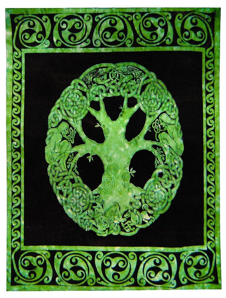Indian Mandala Hippie Wall Hanging Celtic Tree Of Life Bohemian Twin Tapestry #Handmade #Ethnic