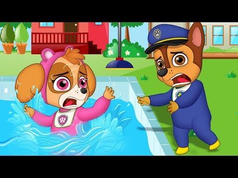 Paw Patrol Full Episodes | Pups Save Chase & Skye Fell To The Pool Funny Story | Animation For Kids - YouTube