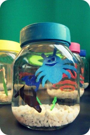 leuke om te maken met kinderen aquarium van een pot