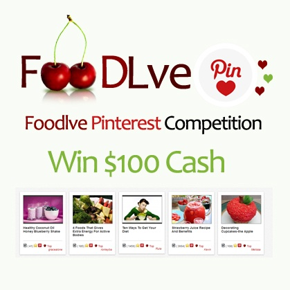 Simple 3 steps to win 100USD cash and build great profile with foodlve  and Pinterest  #Win #Foodlve #Pinterest #Competition #cash #food