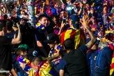 El Barcelona festejó por las calles el título de la Liga española 2012-2013