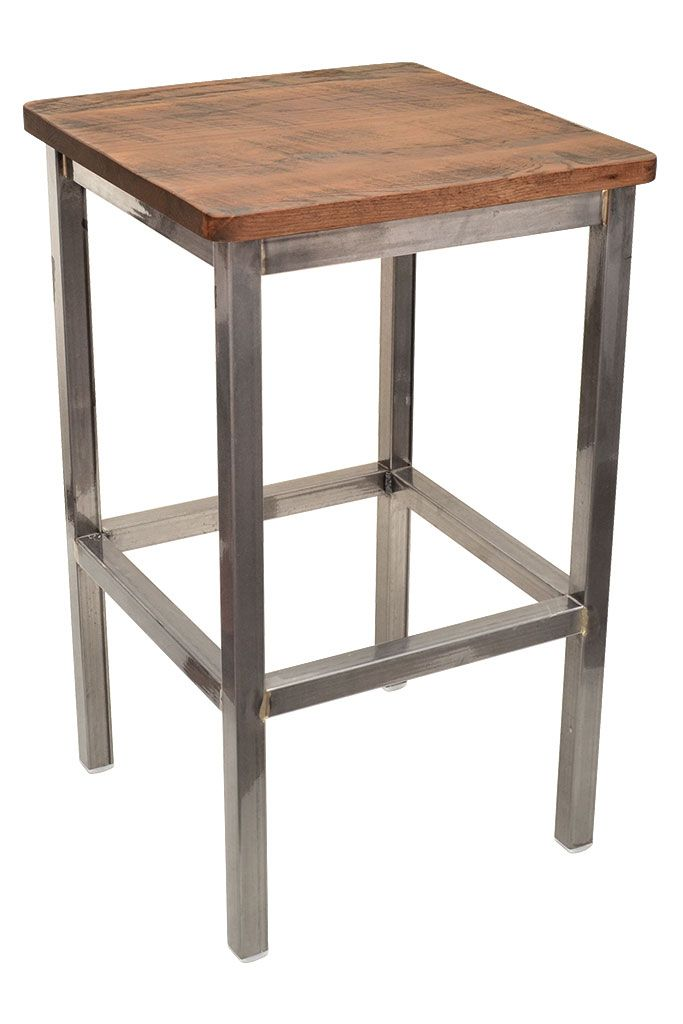 industrial style restaurant furniture. Restaurant Furniture See More Backless Gladiator Bar Stool In Clear Coat With A Reclaimed Wood Seat Perfect Any Industrial Style