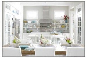 Great Design Kitchen With White Dining Room
