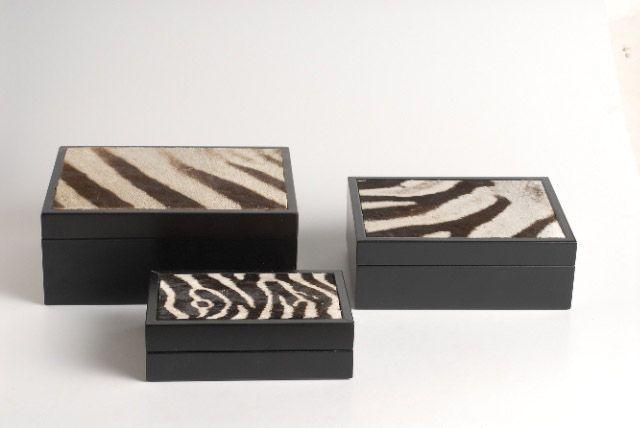 Zebra skin box | Giftware | ASHANTI