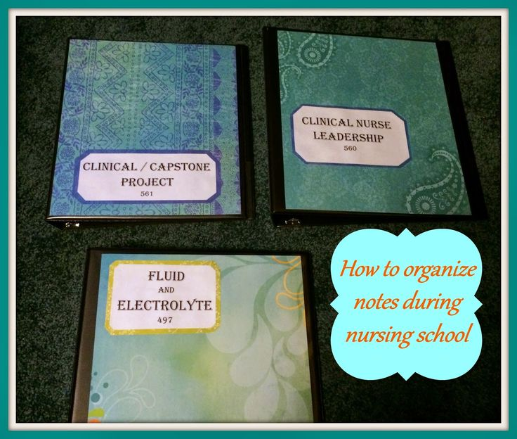 How to Organize Notes During Nursing School. Blog post from Nurse Nightingale. How she creates fun, inspiring binders to collect and organize notes in.