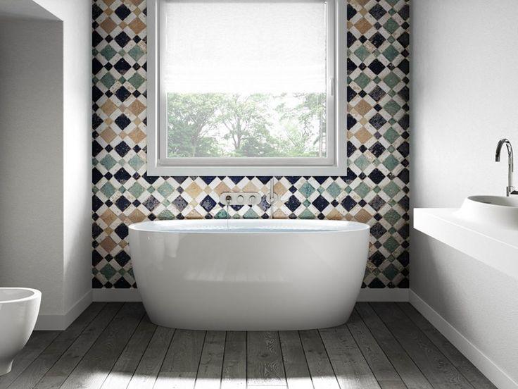 Freestanding composite material bathtub ATTITUDE - Jacuzzi Europe
