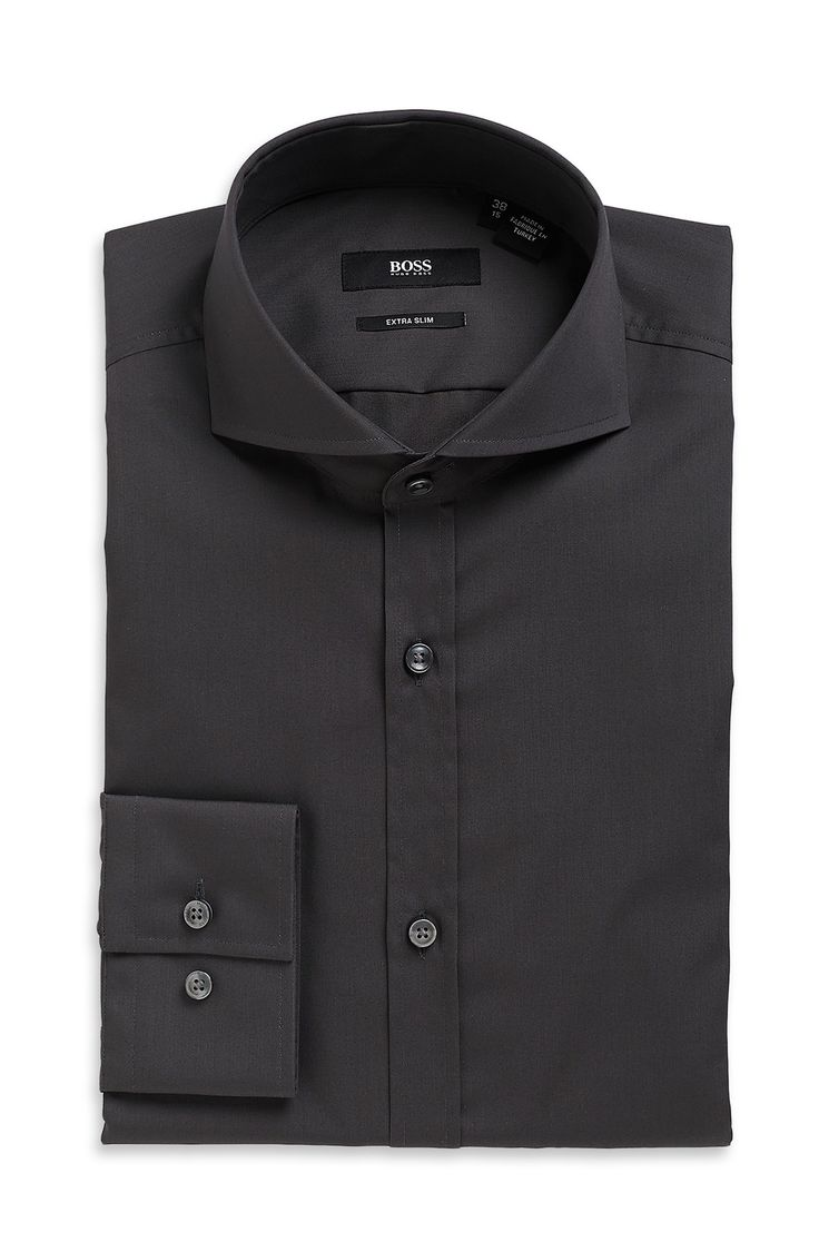 - 'Helge' | Extra Slim Fit, Spread Collar Cotton Dress Shirt. | #Men ...