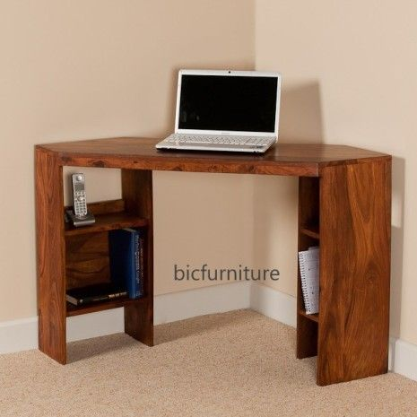 Corner wooden writing table by Bic Furniture.
