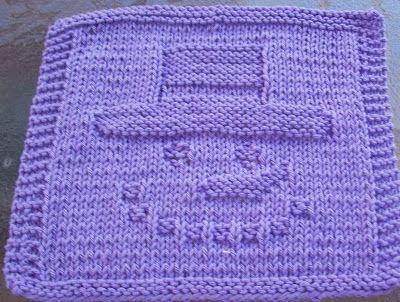 DigKnitty Designs: Snowman Face Knit Dishcloth Pattern