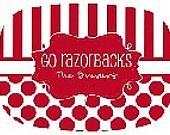 Personalized Go Razorbacks Melamine Platter: Melamine Platters, Razorbacks Melamine, Arkansas Razorbacks