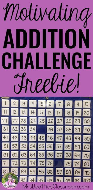 Motivate your students to practice their addition (and subtraction!) skills with this fun addition challenge! Easy to set up with the resources you already have in your classroom. Grab the details and some FREEBIES in this blog post from Mrs. Beattie's Classroom! #addition #earlyfinisher #free #math #teaching
