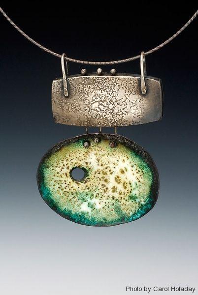 Patti Wells - enamel on copper, silver
