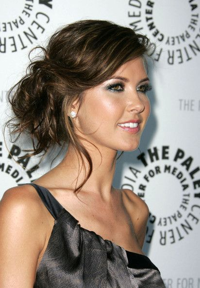 Audrina Patridge Hair..possible side updo?