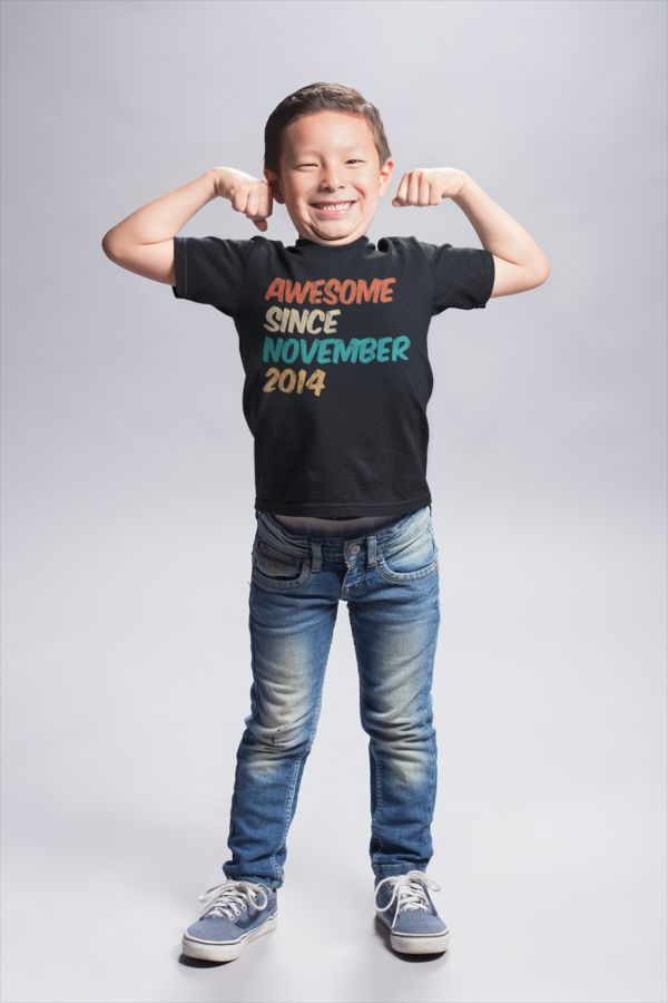 Cute 5 Year Old Idea for Gifts for kids – Awesome Since November 2014 T-Shirt. G…