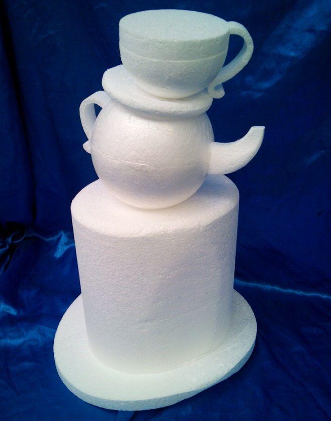 Mad hatter cake dummy set
