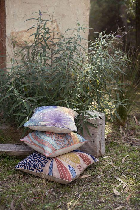 Fan Palm Small Square Cushion - Nancybird