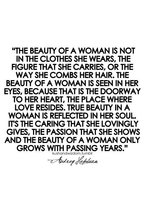 The Beauty In Woman Audrey Hepburn