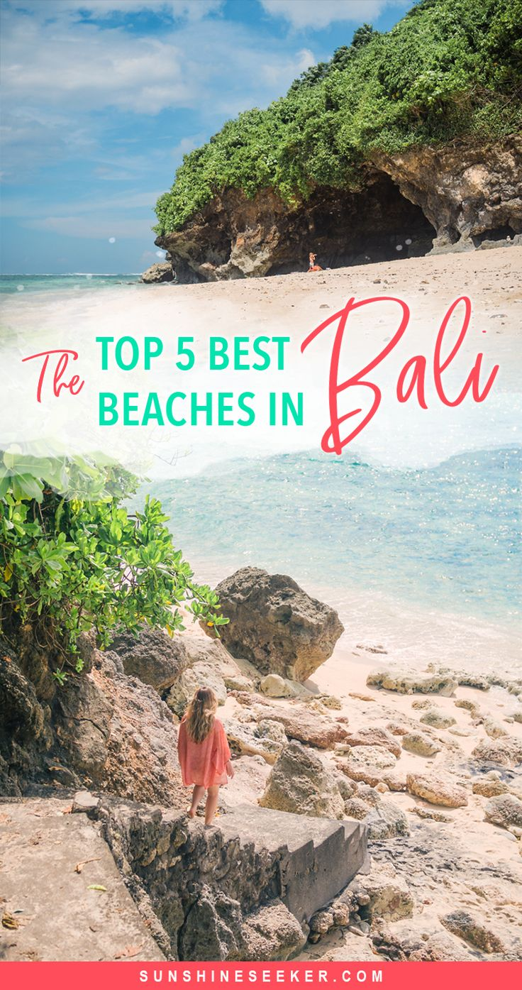 Click through to see the top 5 best beaches in Bali, Indonesia. A guide to the best beaches on the Bukit Peninsula. #padangpadang #uluwatu #nyangnyang #bali