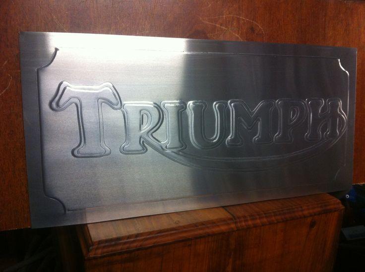 Triumph logo  measures 700 x 250mm