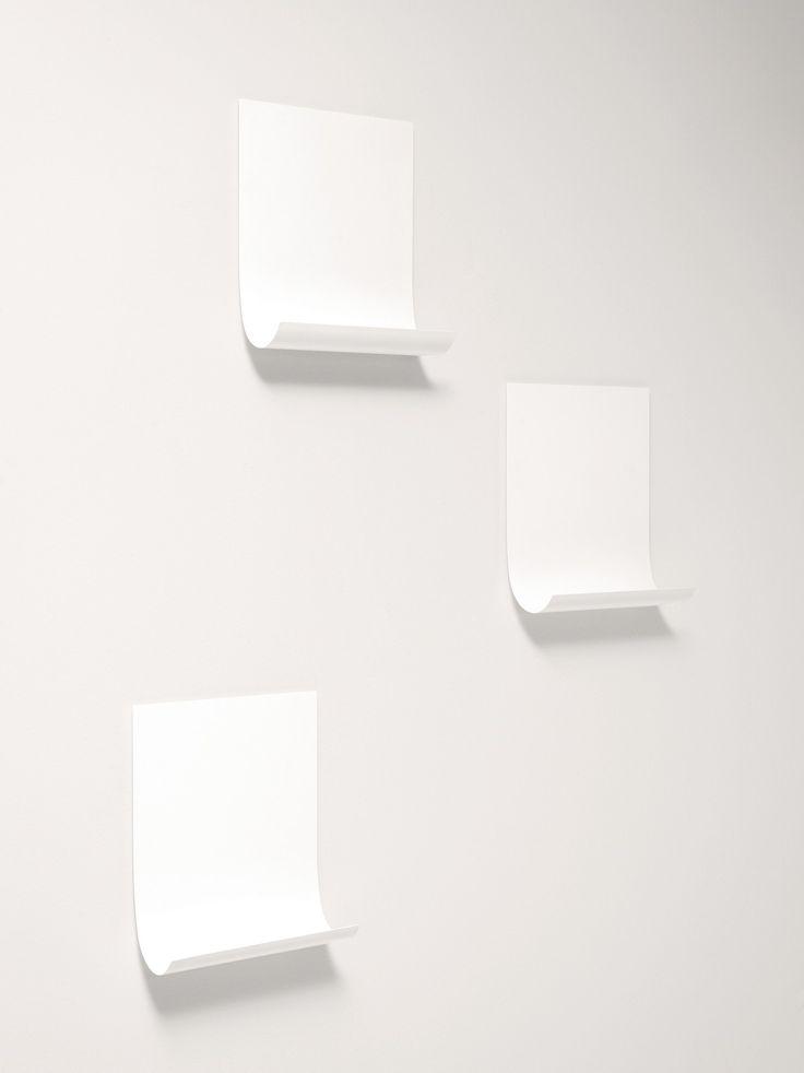 Wandregal aus Blech Kollektion Softer Than Steel by Desalto | Design Nendo