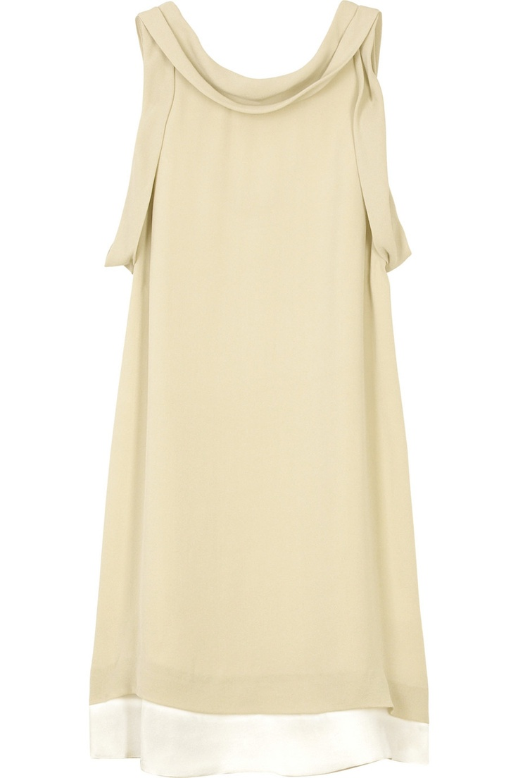 Cobblestone silk cowl neck dress with visible ivory lining. 3.1 ...