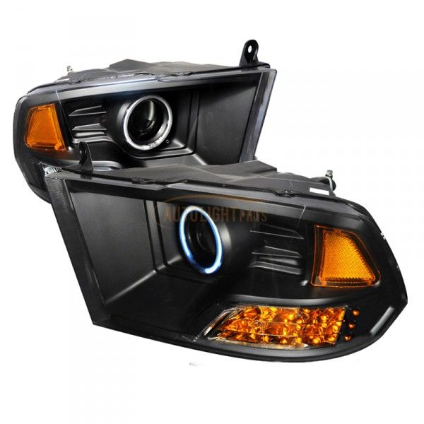 Honda Civic Black CCFL Halo Headlights for Coupe/Sedan/Hatchback/Wagon | Spec-D | Pair | Fits 2006, 2007, 2008, 2009, 2010, 2011