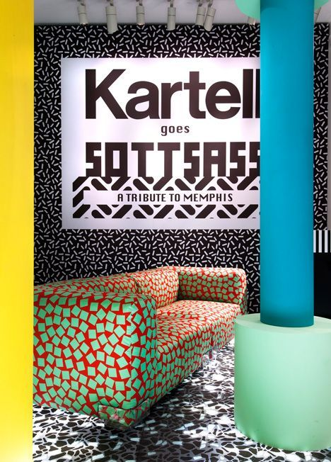 Kartell presents new Ettore Sottsass collection in Memphis-themed exhibition.:
