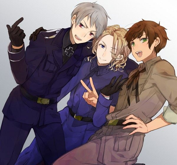 Hetalia (ヘタリア) - The Bad Touch Trio - France, Prussia, & Spain