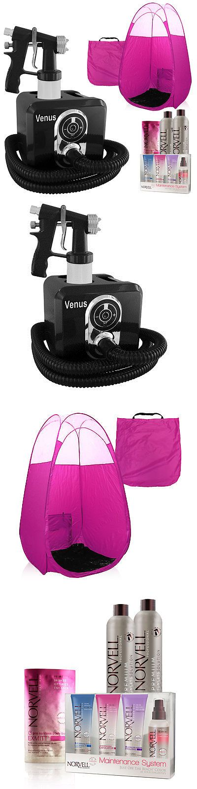 Airbrush Tanning Kits: Black Venus Spray Tan Machine, Pink Tent, Tanning Solution And Sunless Kit -> BUY IT NOW ONLY: $229 on eBay!