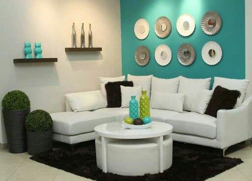 Las 25 mejores ideas sobre decoraci n del hogar de color - Decoracion en tonos turquesa ...