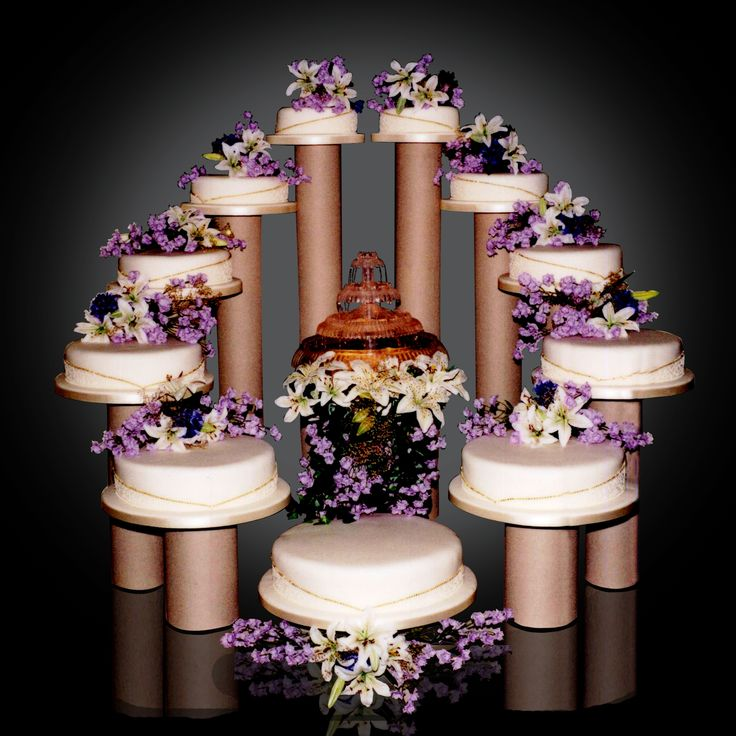 Big Wedding Cakes With Fountains | 11 Tier with Fountain
