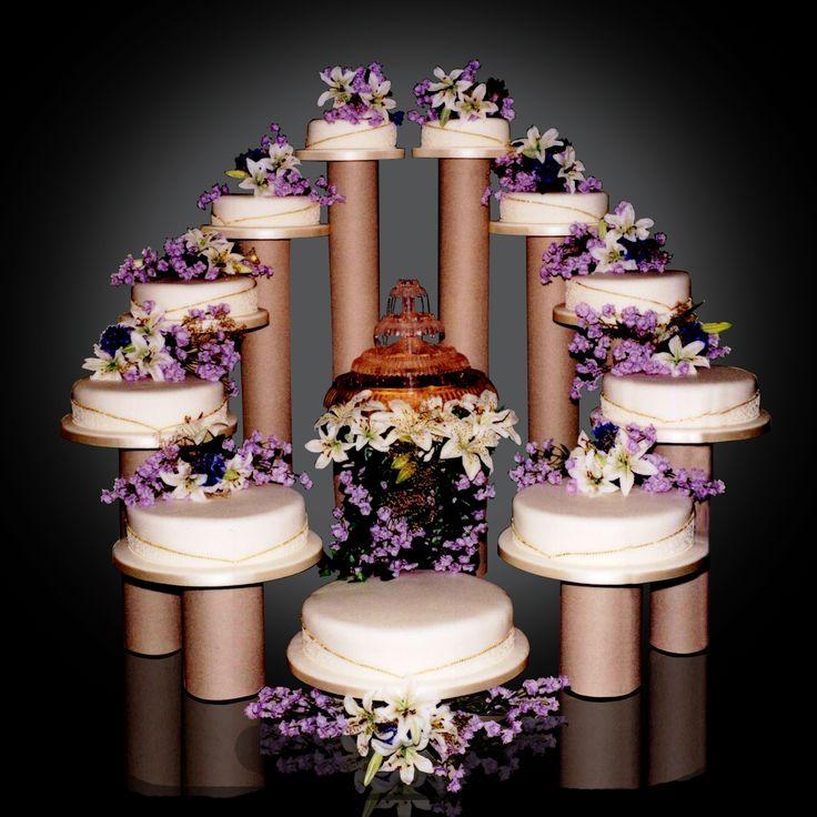 Lighted Wedding Cake Fountain